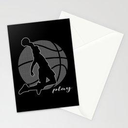Basketball Player (monochrome) Stationery Cards