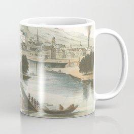 Vintage Pictorial View of Dubuque IA (1854) Coffee Mug