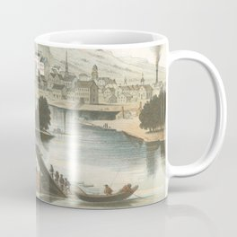 Vintage Pictorial View of Dubuque IA (1854) Coffee Mug