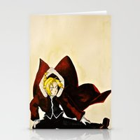 fullmetal Stationery Cards featuring Fullmetal Alchemist - Edward Elric by VoicesRantOn