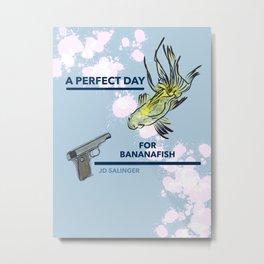 Bananafish (Salinger tribute, cover design) Metal Print