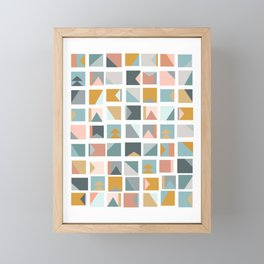 Mini Quilt Blocks Framed Mini Art Print