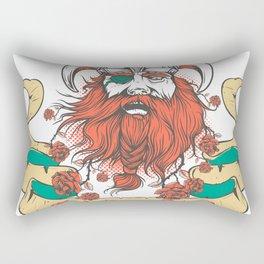 The beard warrior - red rose beard Rectangular Pillow