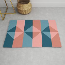 Cast Light in Coral and Blue Rug