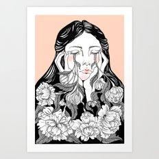 cry me a garden Art Print