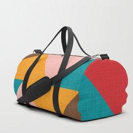Kilim Chevron pink yellow Duffle Bag
