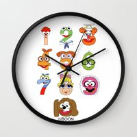 muppet Wall Clocks featuring Muppet Babies Numbers by Mike Boon
