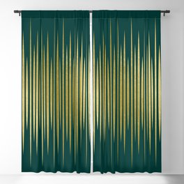 Linear Gold & Emerald Blackout Curtain