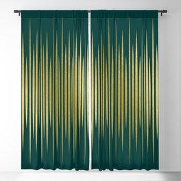 Linear Gold & Emerald Blackout Curtain