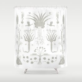 Abundance in Black Shower Curtain