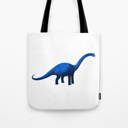 Blue Dinosaur Brachiosaurus or Apatosaurus Tote Bag