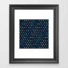 Color Polka Framed Art Print