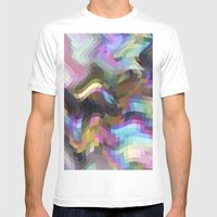 Crazy Quartz MEDIUM White Mens Fitted Tee