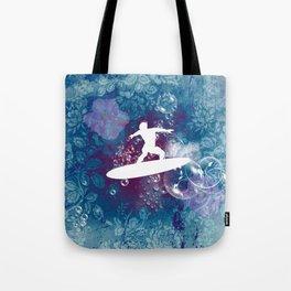 Sport, surfboarder Tote Bag