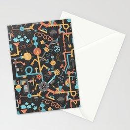 Pipe Dreams - Dark Orange Stationery Cards