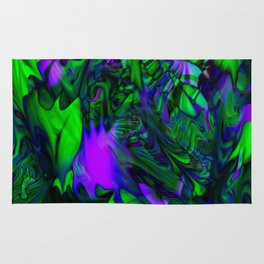 Green purple stained glass Rug