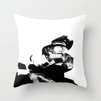 master chief Throw Pillows featuring Master Chief by drass