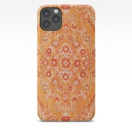 Orange Boho Oriental Vintage Traditional Moroccan Carpet style Design iPhone Case