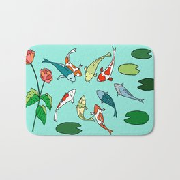 Koi Fish Meeting Bath Mat