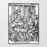 ale giorgini Canvas Prints featuring Ale + Quail by trompkins