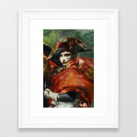 napoleon Framed Art Prints featuring Napoleon by hyperionnebulae