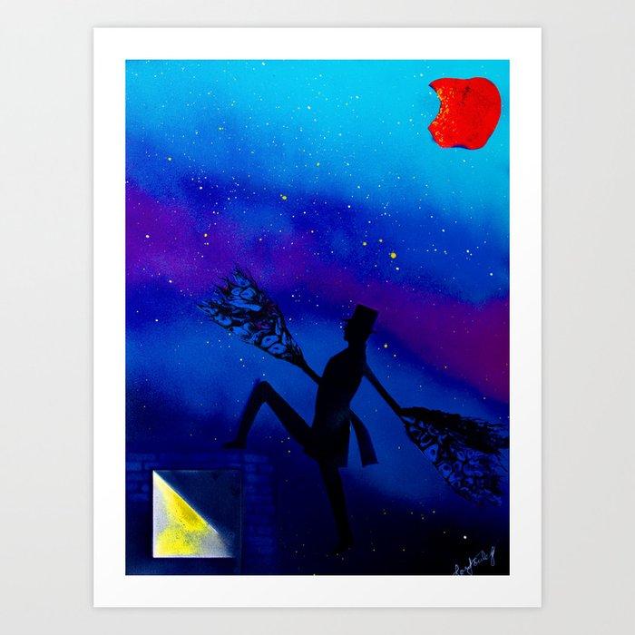 Bite of the Big Apple Art Print