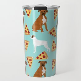 boxer pizza dog lover pet gifts cute boxers pure breeds Travel Mug