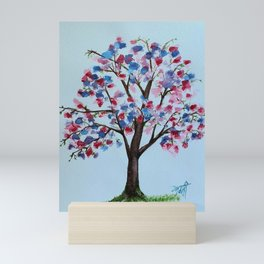 Tree of colours Mini Art Print