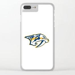 Nashville Predatorss logo Clear iPhone Case