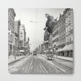 Godzilla Poughkeepsie Visit Metal Print