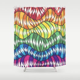 Wormies 2 Shower Curtain