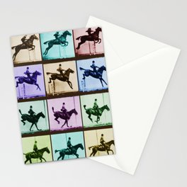 Time Lapse Motion Study Horse And Rider Color Stationery Cards