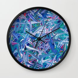 Neon Swipes Wall Clock