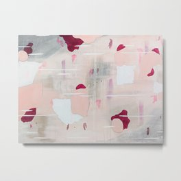 Floating Pink Abstract Metal Print