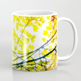 Lovely Autumn Leaves Tree Branch Nature - Canvas Texture Coffee Mug
