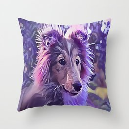 Shetland Sheepdog Puppy Throw Pillow