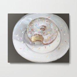 Donut with Sprinkles Metal Print