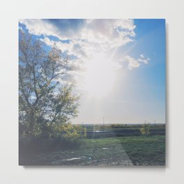 squinting Metal Print