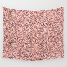 Flower Art - Pink Wall Tapestry