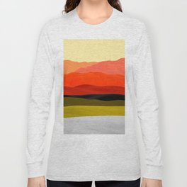 Mountains in Gradient Long Sleeve T-shirt