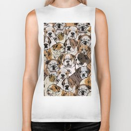 Social English Bulldog Biker Tank