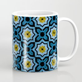 V6 Blue Traditional Moroccan Natural Leather - A4 Coffee Mug
