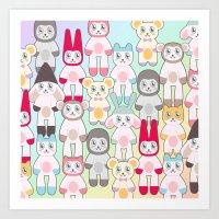 ANIMAMIKKU FAMILY Art Print