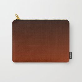 Black to Rust Gradient Carry-All Pouch