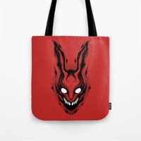 frank Tote Bags featuring Frank by Artistic Dyslexia