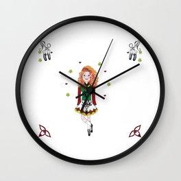 Irish Dancing Girl Wall Clock