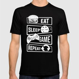 Eat Sleep Game Repeat   Video Game Console Gaming T-shirt