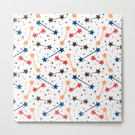 Night sky with constellations and twinkle lights Metal Print