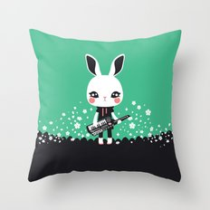 KeyZtar & Bunbina Throw Pillow