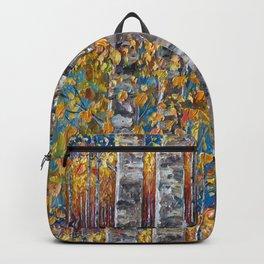 Colourful Autumn Aspen Trees Backpack